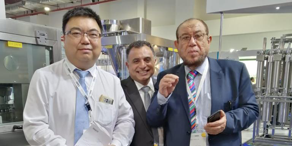Dr. Mowfak Sakr and Orango Team members at CPhI 2018 in India